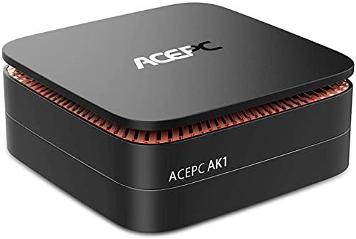 ACEPC AK1 Mini PC, Windows 10 (64-bit) Intel Celeron Apollo Lake J3455 Processor(up to 2.3GHz)...