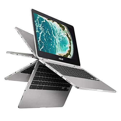 "ASUS Chromebook Flip C302 2-In-1 Laptop- 12.5"" Full HD 4-Way NanoEdge Touchscreen, Intel Core M7..."