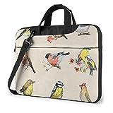 Waterproof Laptop Shoulder Messenger Bag Watercolor Painting Flower Birds Animal Printed Case Sleeve...