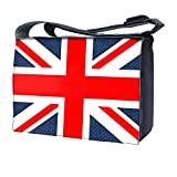 Luxburg'Union Jack' Messenger Bag with Shoulder Strap for 15-Inch Laptop/Notebook
