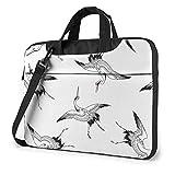 Laptop Shoulder Bag Japanese Crane Printed Laptop Case Handbag Shoulder Tote Bag Travel Briefcase...