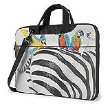 Parrots on Zebra's Back Laptop Shoulder Bag 13 15.6 inch Notebook Computer Briefcase Sleeve Case...