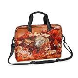 SSCRRTYER Cute Hedgehog Leaves Laptop Bag 16 Inch Computer Bag Briefcase Shoulder Bag Durable Water...