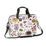 SSCRRTYER Hedgehog In Autumn Leaves Laptop Bag 16 Inch Computer Bag Briefcase Shoulder Bag Durable...