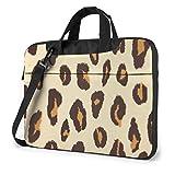 Yellow Leopard Printed Laptop Shoulder Bag Laptop Case Handbag Shoulder Tote Bag Travel Briefcase 14...