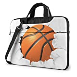 UOER Laptop Shoulder Bag Basketball Torn Paper Computer Tablet Carrying Satchel Durable for Unisex...