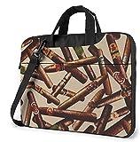 Epushow Cigar Pattern Laptop Bag 15.6'shoulder Strap Messenger Bag Computer Handbag Briefcase for...