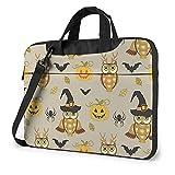 Laptop Shoulder Bag Halloween Pumpkin And Owl Printed Laptop Case Handbag Shoulder Tote Bag Travel...
