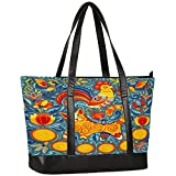 Laptop Tote Bag for Women,Ethnic Tribe Cat Chick Large Capacity Womens Work Tote Bag, Shoulder Bag...