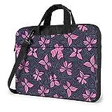 Butterflies And Waves Laptop Shoulder Messenger Bag Shockproof Laptop Sleeve Case Notebook Briefcase...